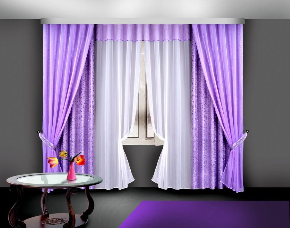 Шторы фиолетового цвета фото