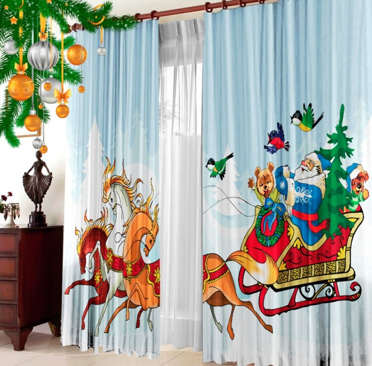 Holiday curtains