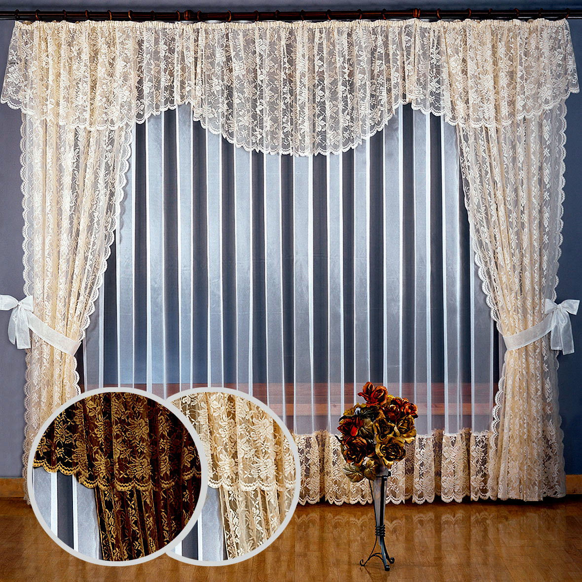 Тюль для гостиной фото